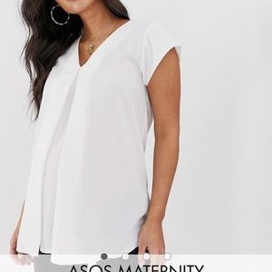 ASOS MATERNITY top with pleat detail
